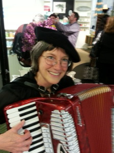 Susan Clearman on accordion